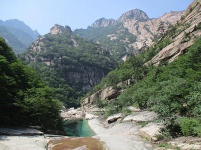 玉龍の滝から見た外金剛