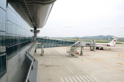 2015年リニューアルした平壌国際空港