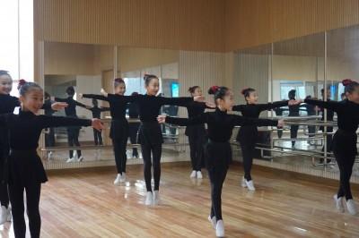 朝鮮舞踊の練習に励む生徒