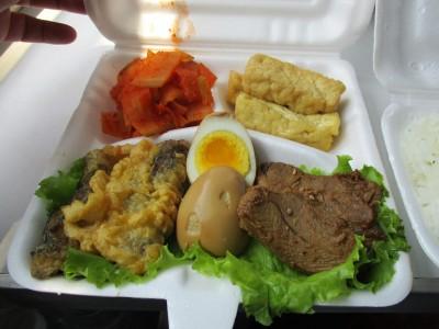 たぶんで朝鮮で食べた食べ物でこれが一番美味しかったかも。値段はたったの¥1,000
