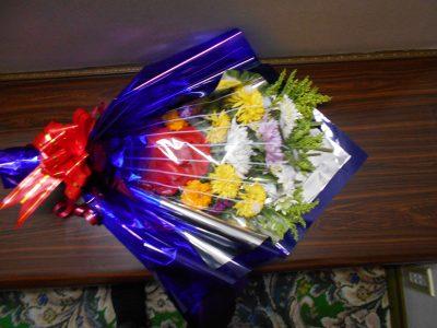 誕生日の日にいただいた花束