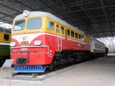 三大革命展示館のディーゼル機関車