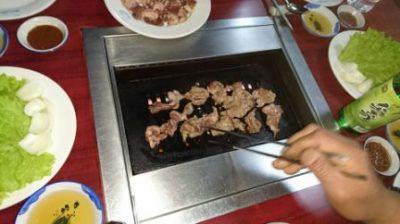 アヒルの焼肉